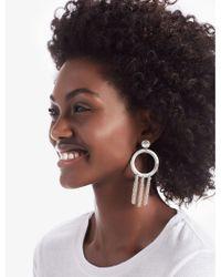 Lucky Brand - Silver O Tassel Earring - Lyst