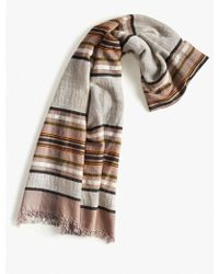 Lucky Brand - Neutral Stripe Scarf - Lyst