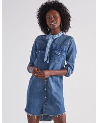 Lucky Brand - Western Shirt Dress In Ballard - Lyst