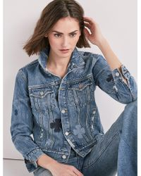Lucky Brand - The Denim Tomboy Trucker Jacket - Lyst