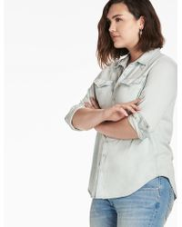 3ea262c153 Lyst - Lucky Brand Classic Western Shirt in Blue