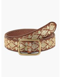 Lucky Brand - Metallic Embroidery Belt - Lyst