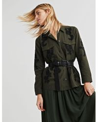 Lucky Brand - Embroidered Utility Jacket - Lyst