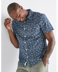 Lucky Brand - Ditsy Print One Pocket Shirt - Lyst