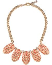 Lulu Frost - Hibiscus Necklace - Coral - Lyst