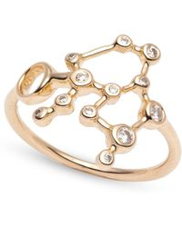Lulu Frost - Zodiacs 14k & Diamond Aquarius + Air Ring - Lyst