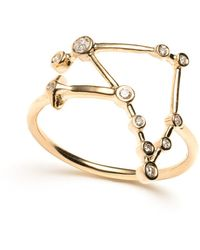 Lulu Frost - Zodiacs 14k & Diamond Capricorn + Earth Ring - Lyst
