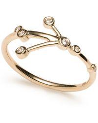Lulu Frost - Zodiacs 14k & Diamond Cancer + Water Ring - Lyst