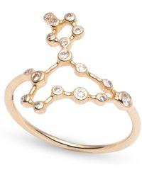 Lulu Frost - Zodiacs 14k & Diamond Pisces + Water Ring - Lyst