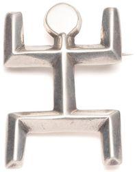 Lulu Frost - Vintage Modernist Stick Figure Sterling Silver Brooch - Lyst
