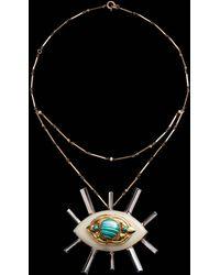 Lulu Frost - Fine Vintage Pendant Necklace - Radiant Eye - Lyst