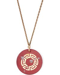Lulu Frost - Vintage Zodiacs Poker Chip Pendant Necklace - Aries Maroon - Lyst