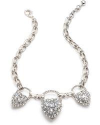 Lulu Frost - Nina Triple Drop Necklace - Clear - Lyst