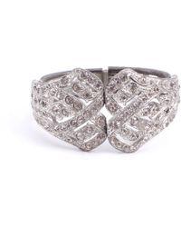 Lulu Frost - Vintage Art Deco Hinged Paste Clamper Bracelet - Lyst