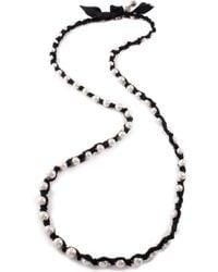 Lulu Frost - Lustre Black Silk Woven Messenger Necklace - Lyst