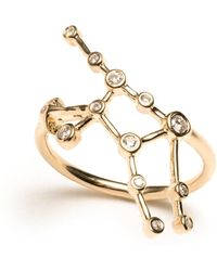 Lulu Frost - Zodiacs 14k & Diamond Virgo + Earth Ring - Lyst
