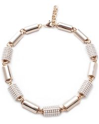 Lulu Frost - Jane Gold & Pave Pearl Riviera Necklace - Lyst