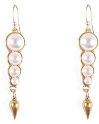 Lulu Frost - Pearl Line Earring - Lyst