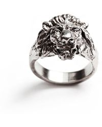 Lulu Frost - George Frost Bravery Lion Ring - White Bronze - Lyst