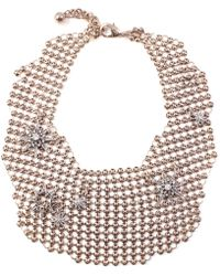 Lulu Frost - Radiant Mesh Necklace Gold - Lyst