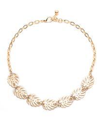 Lulu Frost - Gold Botanica Midi Necklace - Lyst