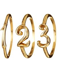 Lulu Frost | Code Number Ring Yellow Gold 14kt | Lyst