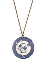Lulu Frost - Vintage Zodiacs Poker Chip Pendant Necklace - Taurus Blue - Lyst