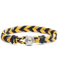 Lulu Frost - George Frost Woven Reflective Bracelet - Yellow & Black - Lyst