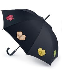 Lulu Guinness - Confetti Lip Print Kensington Umbrella - Lyst