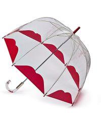 Lulu Guinness - Clear Half Lip Birdcage Umbrella - Lyst