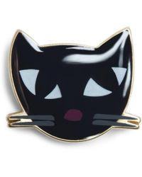 Lulu Guinness - Kooky Cat Brooch - Lyst
