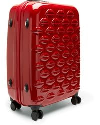 Lulu Guinness - Red Hard Sided Lips Medium Spinner Case - Lyst