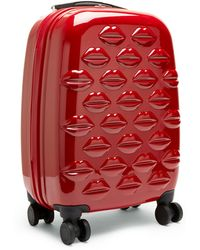 Lulu Guinness - Red Hard Sided Lips Small Spinner Case - Lyst