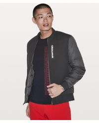 ca152bb4f Lyst - lululemon athletica About-face Bomber in Black for Men