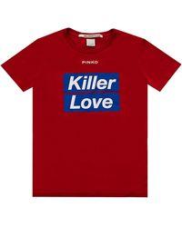 Pinko - T-shirt Spontaneo Rosso - Lyst