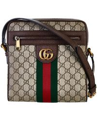 fdfc4389883 Lyst - Gucci Animalier Web-Stripe Leather Shoulder Bag in Brown