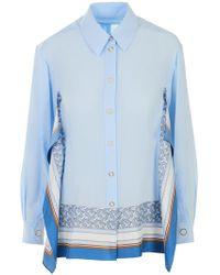 40db5689d0dc54 Lyst - Burberry Brit Denim Shirt in Blue