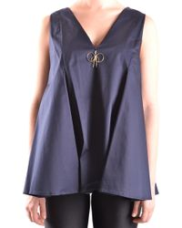 Elisabetta Franchi - Blue Cotton Top - Lyst