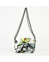 "Proenza Schouler Floral Canvas Small ""courier"" Shoulder Bag - Green"
