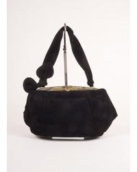 Alaïa   Black And Green Suede And Reptile Leather Frame Shoulder Bag   Lyst