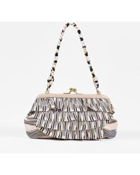 Missoni - Multicolor Knit Pattern Ruffled Leather Trim Small Bag - Lyst