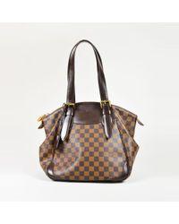 """Louis Vuitton - Brown Damier Ebene Canvas & Leather """"verona"""" Mm Satchel Bag - Lyst"""