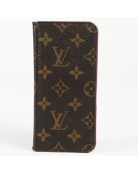 Louis Vuitton - Monogram Coated Canvas Iphone 7 Folio Case - Lyst