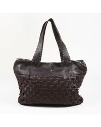 Henry Beguelin - Brown Leather Woven Tote Bag - Lyst
