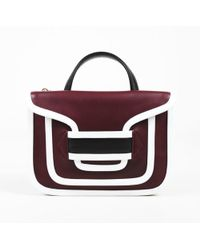 "Pierre Hardy - Burgundy Red White & Black Calfskin ""alpha Twin"" Bag - Lyst"