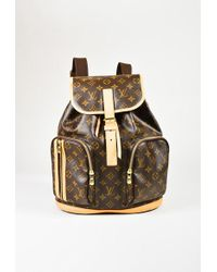 "Louis Vuitton - Brown Monogram Canvas ""sac A Dos Bosphore"" Drawstring Backpack - Lyst"