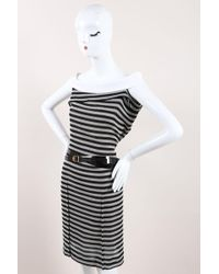 e8ca4e03733 Roland Mouret - Nwt Runway Black White Cotton Striped
