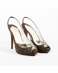 0fb54655dfa Chloé Cork Block Sandals Two Tone High Heel in Natural - Lyst