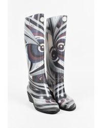 Emilio Pucci   Multicolor Printed Rain Boots   Lyst