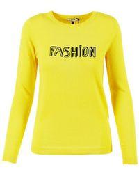 "Bella Freud - Yellow Wool ""fashion"" Sweater - Lyst"